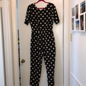 Anthro Polka Dot Jumpsuit
